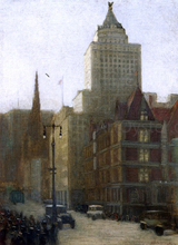 57th Street at Fifth Avenue - Aaron Harry Gorson