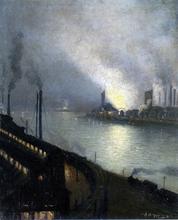 Factories at Night - Aaron Harry Gorson