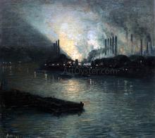 Pittsburgh Industrial Nocturne - Aaron Harry Gorson