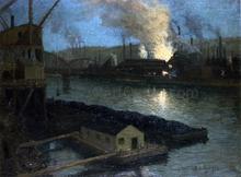 Pittsburgh Mills at Night - Aaron Harry Gorson