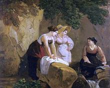 Washerwomen in a Grotto