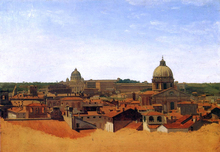 View over the Rooftops of Rome - Adolf Von Heydeck