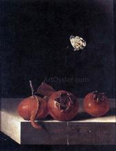 Three Medlars with a Butterfly - Adriaen Coorte