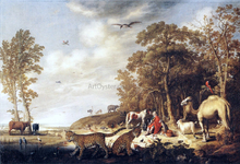 Orpheus with Animals in a Landscape - Aelbert Cuyp