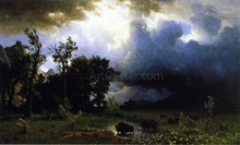 Buffalo Trail: the Impending Storm (also known as The Last of the Buffalo) - Albert Bierstadt