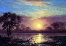 Evening, Owens Lake, California - Albert Bierstadt