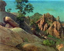A Landscape Study: Owens Valley, California - Albert Bierstadt