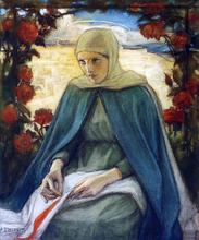 The Virgin Mary in the Rose Garden