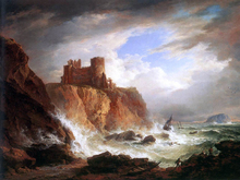 A View of Tantallon Castle - Alexander Nasmyth