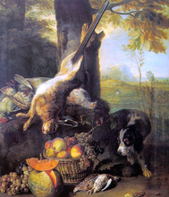 Still Life with Dead Hare and Fruit - Alexandre-Francois Desportes