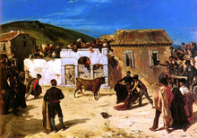 A Combat De Novillos - Alfred Dehodencq
