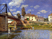 A Bridge at Villeneuve-la-Garenne - Alfred Sisley