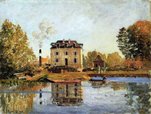 Factory in the Flood, Bougival - Alfred Sisley