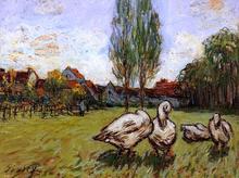 Geese - Alfred Sisley