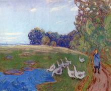 Goose Girl - Alfred Sisley