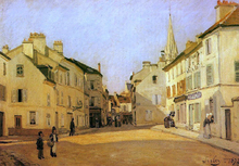 Square in Argenteuil (also known as Rue de la Chaussee) - Alfred Sisley