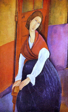 Jeanne Hebuterne (also known as In Front of a Door) - Amedeo Modigliani