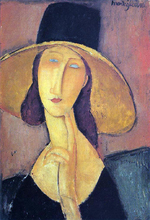 Jeanne Hebuterne in a Large Hat (also known as Portrait of Woman in Hat)