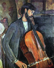 A Cellist - Amedeo Modigliani