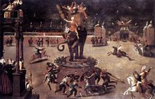 Merry-Go-Round with Elephant - Antoine Caron