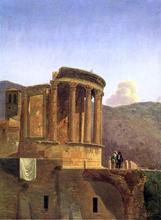 The Temple of Vesta at Tivoli - Antoine-Felix Boisselier