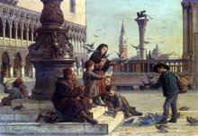 Feeding The Pigeons - Antonio Paoletti
