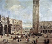 A View of the Piazza San Marco from the Procuratie Vecchie - Antonio Stom