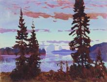 Evening Twilight the Dawn of Night - Arkady Alexandrovich Rylov