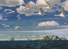 In the Blue Expanse - Arkady Alexandrovich Rylov