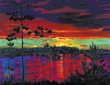 Sunset - Arkady Alexandrovich Rylov