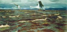 Swans Over the Kama - Arkady Alexandrovich Rylov