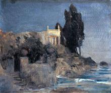A Villa by the Sea - Arnold Bocklin