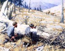 Elk Ahead - Arthur B Frost