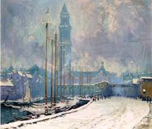 Customs House Tower, T-Wharf - Arthur Clifton Goodwin