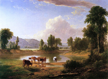 View of Esopus Creek, Ulster County, New York - Asher Brown Durand