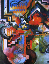 Colored Composition (also known as Homage to Johann Sebastian Bach) - August Macke