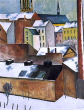 St Mary's in the Snow - August Macke