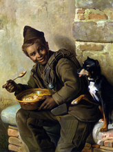 Meal Time for the Chimney Sweep - Aurelio Zingoni