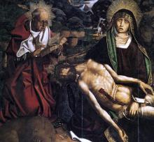 Pieta of Canon Luis Despla (detail)