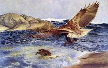 A Sea Eagle Chasing Eider Duck - Bruno Liljefors