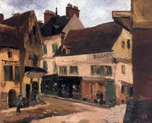 A Square in La Roche-Guyon - Camille Pissarro