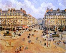 Avenue de l'Opera: Morning Sunshine - Camille Pissarro