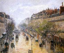 Boulevard Montmartre: Spring Rain - Camille Pissarro