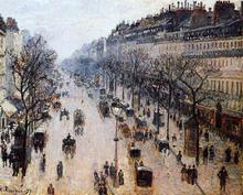 Boulevard Montmartre: Winter Morning - Camille Pissarro