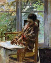 Lucien Pissarro in an Interior - Camille Pissarro