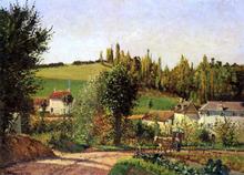 Path of l'Hermitage at Pontoise - Camille Pissarro
