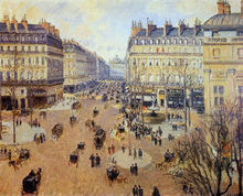 Place du Theatre Francais: Afternoon Sun in Winter - Camille Pissarro
