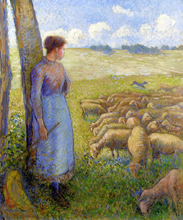 A Shepherdess and Sheep