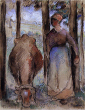 The Cowherd (also known as Young Peasant) - Camille Pissarro