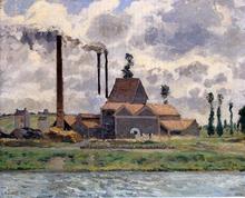 The Factory - Camille Pissarro